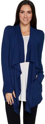 Cuddl Duds Softwear Stretch Long Sleeve Cascade Wrap