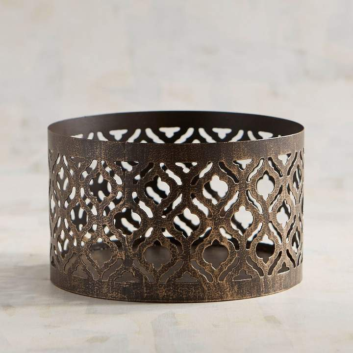 Bronze 3-Wick Filled Candle Sleeve Holder