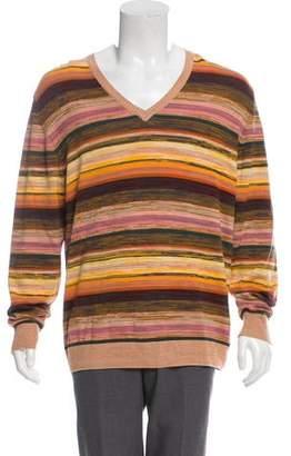 Missoni Striped V-Neck Sweater w/ Tags
