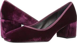 Kenneth Cole New York Women's Eryn Dress Pump Low Heel Square Toe Velvet