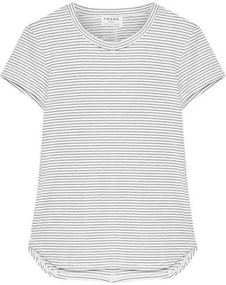 Frame Striped Stretch Modal-blend Jersey T-shirt - White