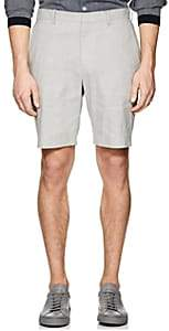 Theory MEN'S EVAN LINEN-BLEND SHORTS-GRAY SIZE 30