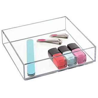 InterDesign Clarity Cosmetic Drawer Organizer for Vanity Cabinet to Hold Makeup