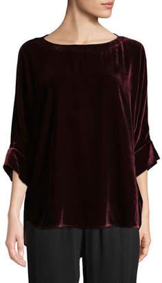 Eileen Fisher Dolman-Sleeve Velvet Top, Plus Size