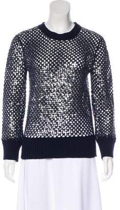 Michael Kors Sequins Long Sleeve Sweater