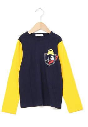 SLAP SLIP (スナップ スリップ) - SLAP SLIP 天竺eくん袖配色Tシャツ ベベ オンライン ストア カットソー