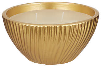 John Lewis & Partners Ceramic Bowl Filled Candle, Gold, 16cm