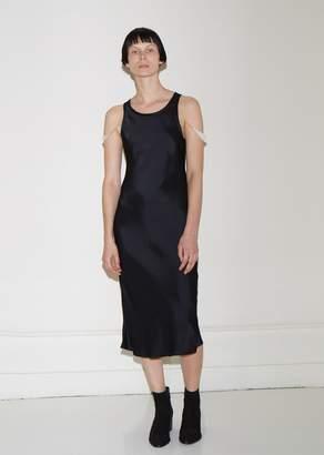 Helmut Lang Satin Brastrap Tank Dress