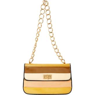 Chanel Vintage Yellow Leather Clutch Bag