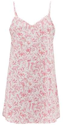 Derek Rose Ledbury Aquatic Print Cotton Nightdress - Womens - Pink