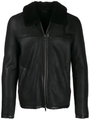 Dondup shearling jacket with zipper