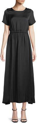 Catherine Malandrino Short-Sleeve Elastic-Waist Maxi Dress