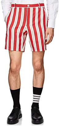 Thom Browne Men's Striped Twill Shorts - Red