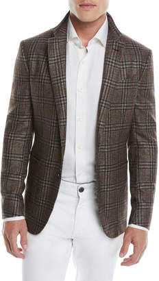 Ermenegildo Zegna Men's Prince of Wales Plaid Two-Button Jacket