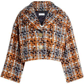 Sonia Rykiel Cropped Tweed Jacket with Wool