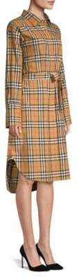 Burberry Women's Isotto Long Shirt Dress - Antique Yellow - Size 6