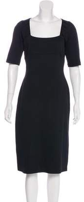 Richard Tyler Long Sleeve Midi Dress