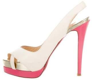 Christian Louboutin Slingback Platform Sandals