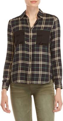 Desigual Two-Pocket Plaid Shirt