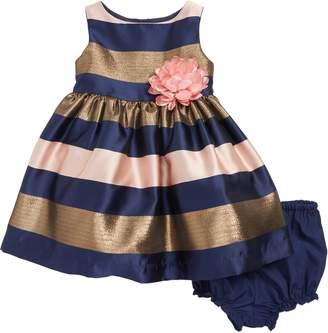 Frais Metallic Stripe Fit & Flare Dress