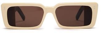 Gucci Rectangular Acetate Sunglasses - Womens - Ivory Multi