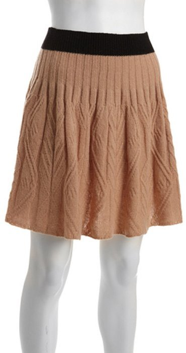 Marc by Marc Jacobs tan wool-blend cable knit skirt