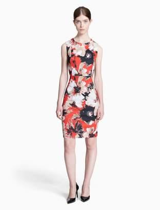 Calvin Klein floral scuba sheath dress