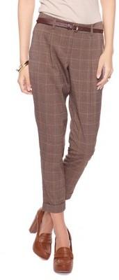 Forever 21 Glen Plaid Trousers Belt
