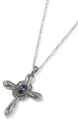 Topman Mens Blue Silver Cross Necklace*
