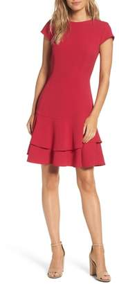 Eliza J Stretch Crepe Sheath Dress