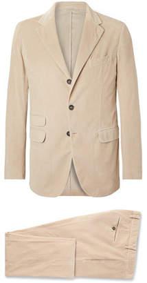 Massimo Alba Sand Cotton-Corduroy Suit