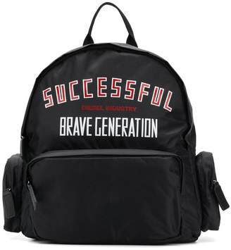 Diesel Successful print backpack