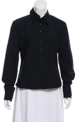 Versace Long Sleeve Button-Up Top