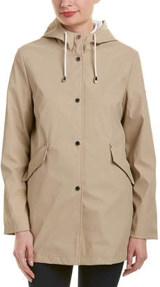 French Connection Hooded Slicker Raincoat
