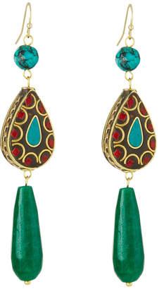 Panacea Teardrop Stone Earrings