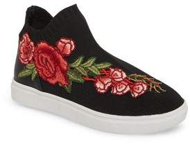 Steve Madden July Embroidered Knit Bootie
