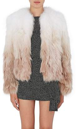 Saint Laurent Women's Gradient Fox-Fur Coat