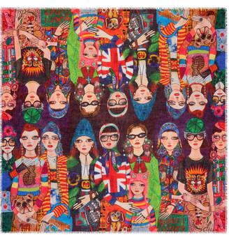 Gucci Unskilled Worker silk shawl