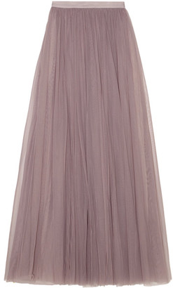 Needle & Thread - Tulle Maxi Skirt - Lavender $240 thestylecure.com