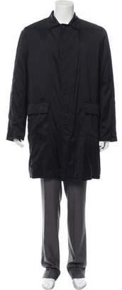 Dolce & Gabbana Woven Nylon Overcoat