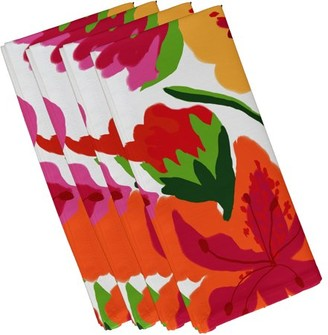 """Simply Daisy 19"""" x 19"""" Tropical Floral Floral Print Napkin (Set of 4)"""