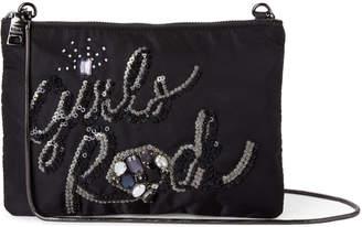 Steve Madden Girls Rule Beaded Pouch Bag