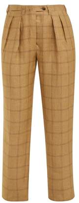 Giuliva Heritage Collection The Husband High Rise Linen Trousers - Womens - Beige Multi