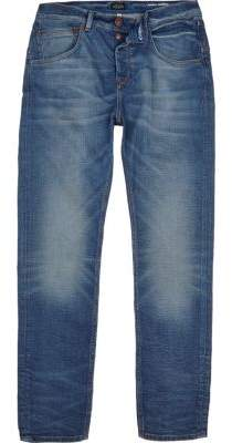 River Island Mid blue wash Chester skinny tapered jeans