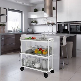 Mainstays Transformable 3 Tier Rolling Kitchen/Bar Cart, Black