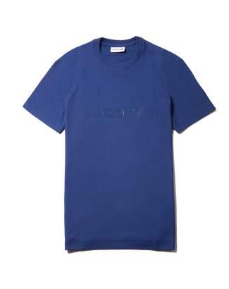 Lacoste Men's Crew Neck Pique T-shirt With 3D Branding