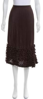 Issey Miyake Pleated Knee-Length Skirt