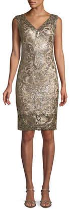 Tadashi Shoji Sleeveless Corded Lace Dress