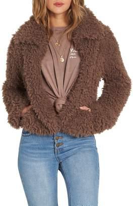 Billabong Fur Keeps Faux Fur Crop Jacket