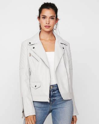 Express Petite (Minus The) Leather Moto Jacket